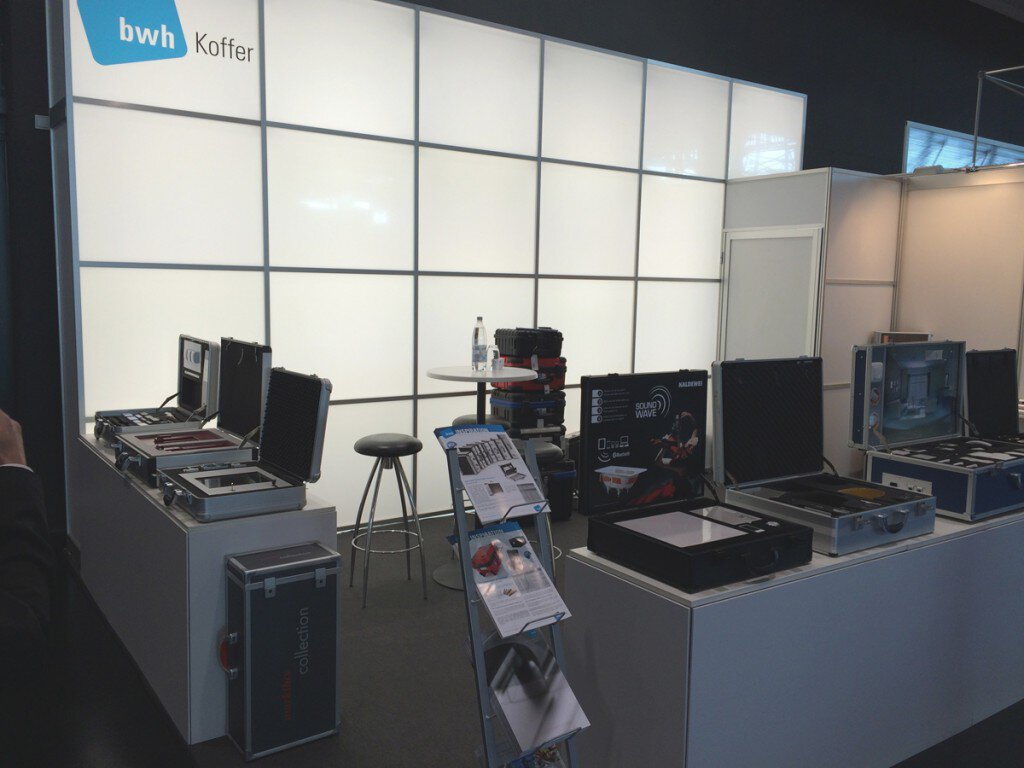 Messestand bwh Koffer auf Frontale 2014