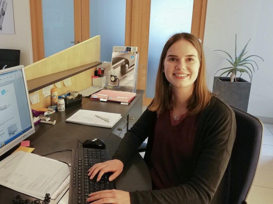 Leonie Bohlin, Auszubildende zur Industriekauffrau