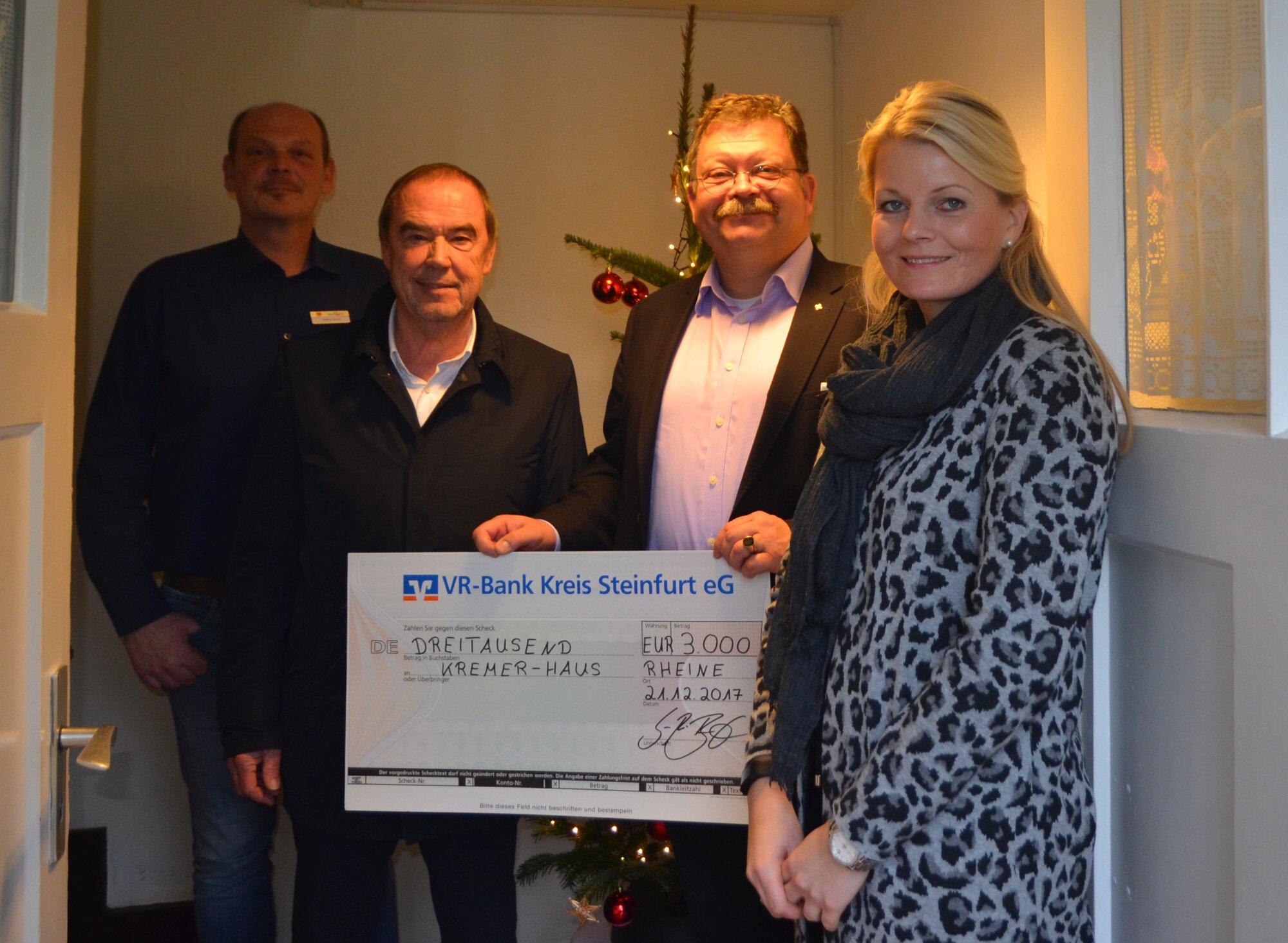 Spendenübergabe Kremerhaus Dezember 2017