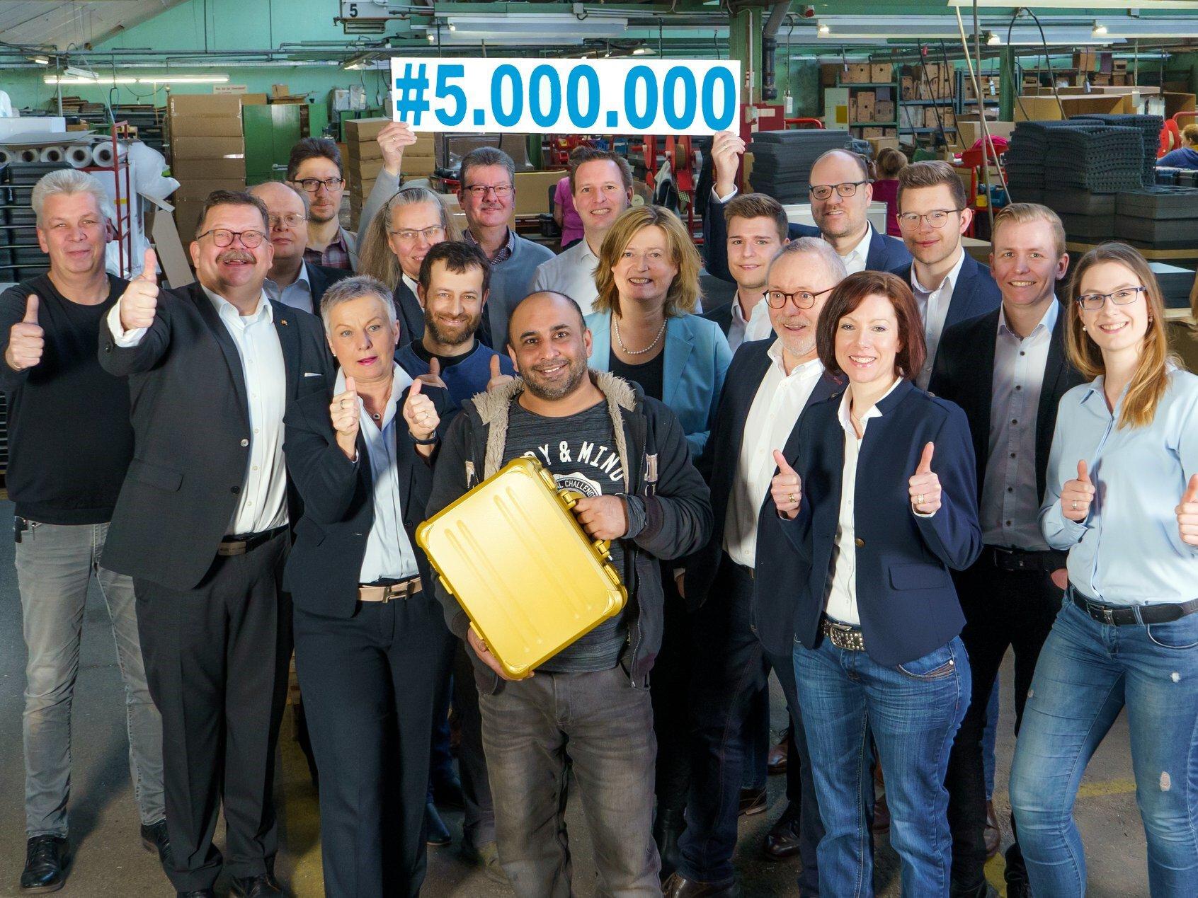 bwh Koffer Jubiläum - 5 Millionen Koffer